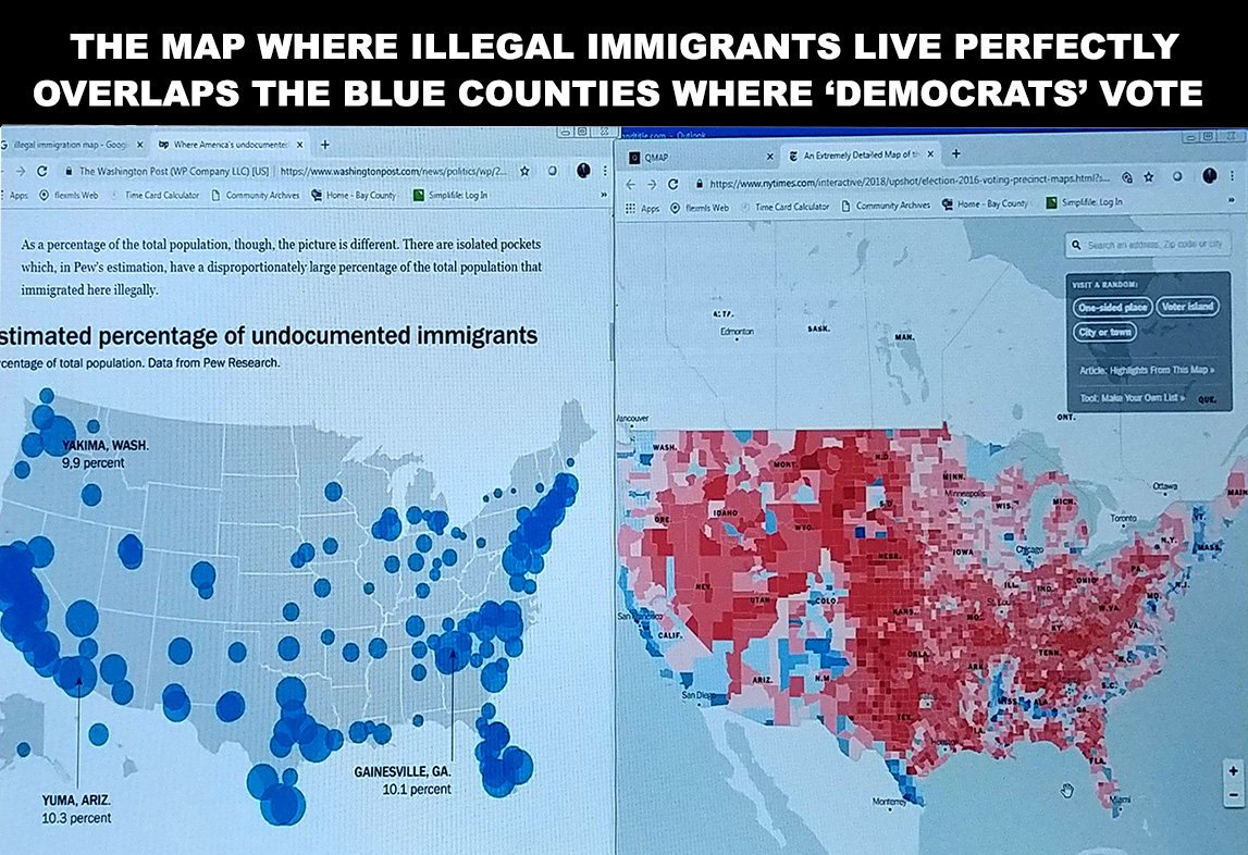 Illegals Map and Votes