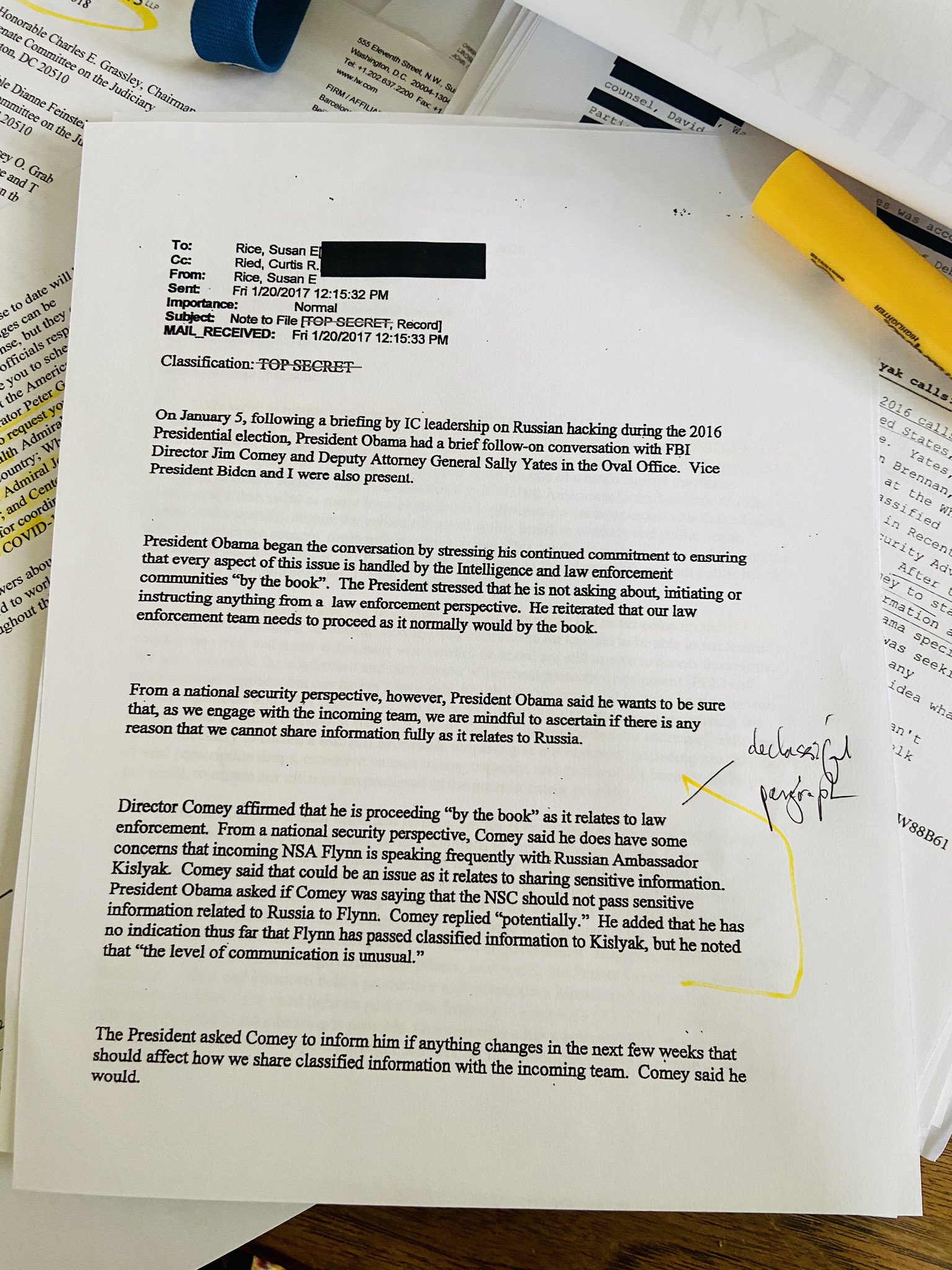 QAnon 24 May 2020 - [Susan Rice] 'top secret' [DECLAS]