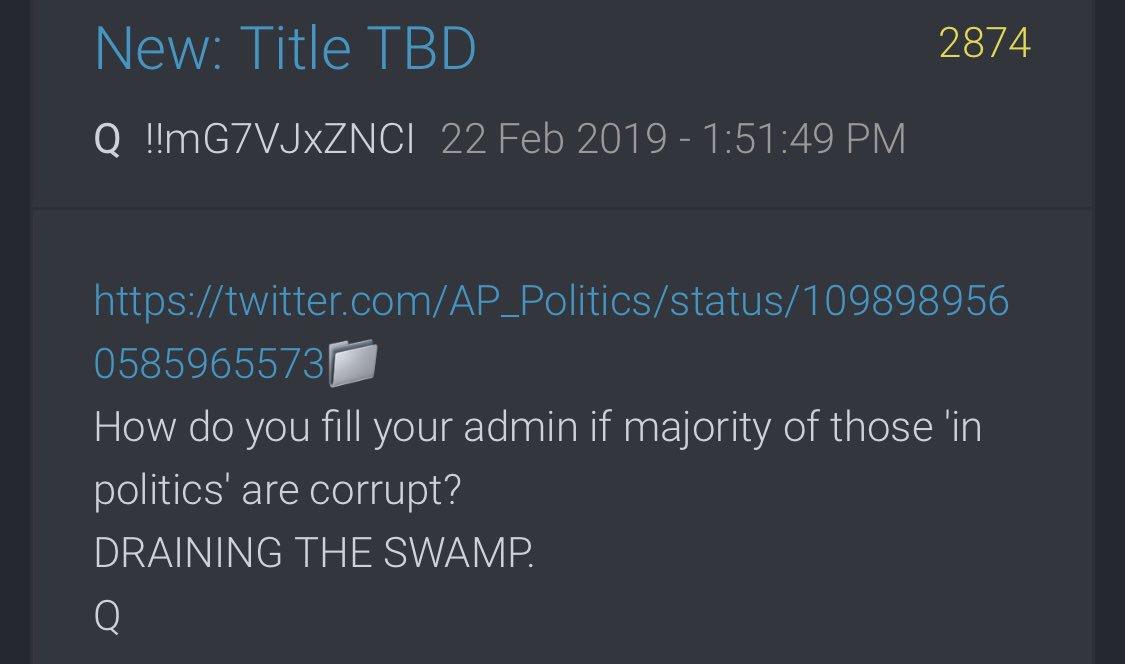 QAnon July 12 2019 - Draining The Swamp