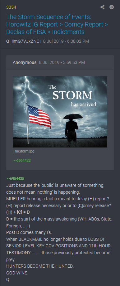 "PART 2 - CONTINUED: America Warned Is Unprepared For Q & Trump's Cataclysmic Destruction Of ""Deep State"" - Page 4 523c2c3488998f75bf484be7ba4b46b79f951ecfab28b20e3d023749310b1448"