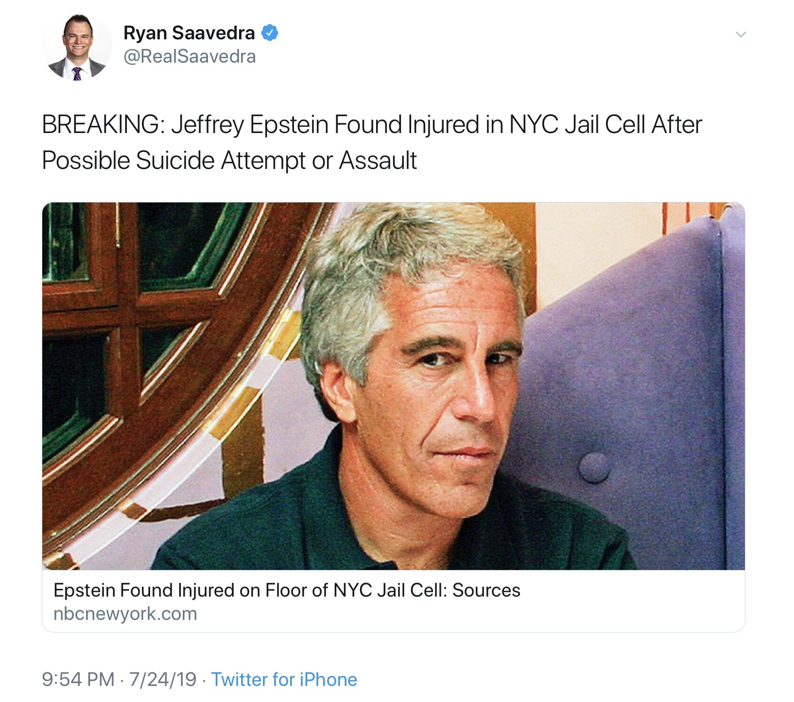 QAnon July 25 2019 - Knowingly - Epstein Injuried