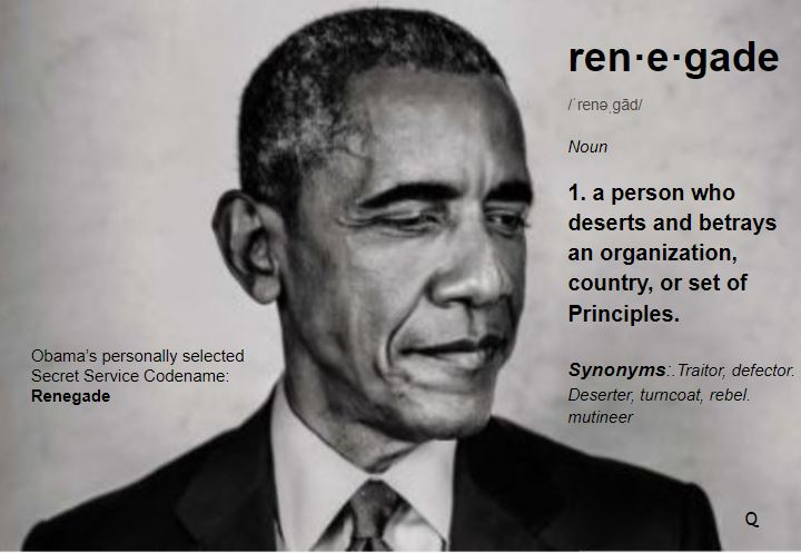 Why did [Hussein, Barry] choose 'RENEGADE' as USSS codename
