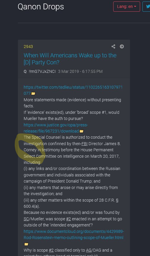 "PART 2 - CONTINUED: America Warned Is Unprepared For Q & Trump's Cataclysmic Destruction Of ""Deep State"" - Page 4 947725980718dc17d655132e9f4278e1f592838b28ee55710b36ac01e1314a75"