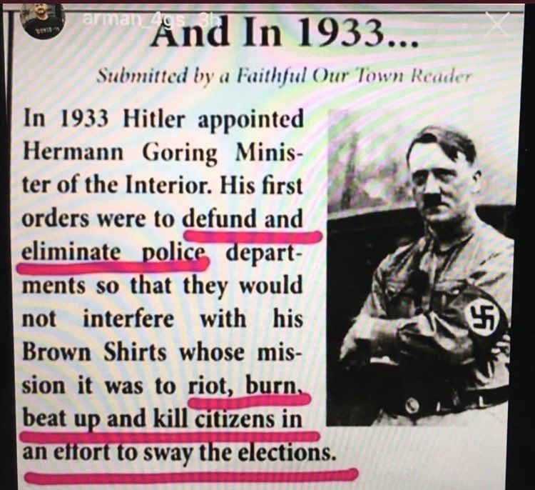QAnon 11 September 2020 - 1933 Germany Defund The Police