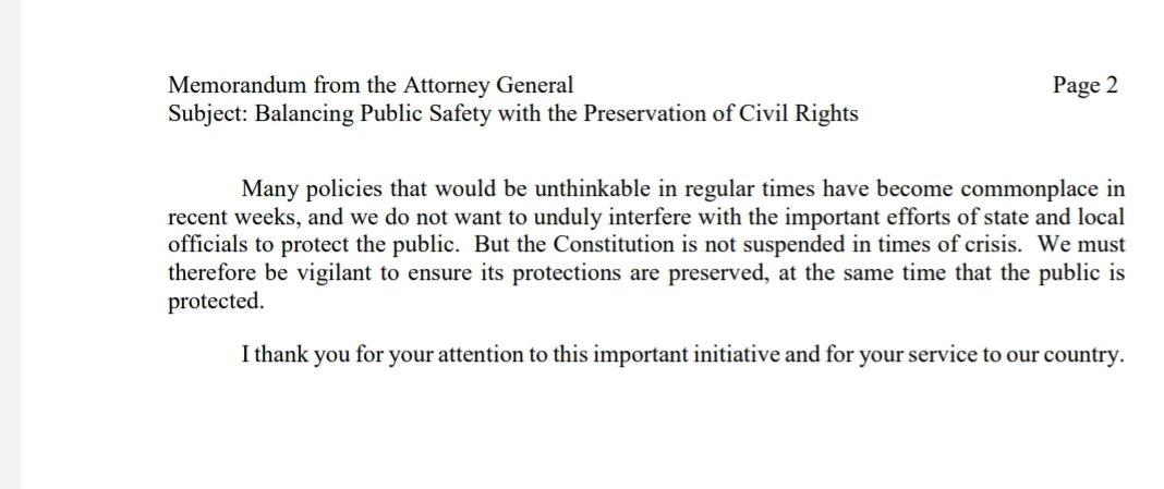 QAnon 4 May 2020 - Memorandum from the Attorney General