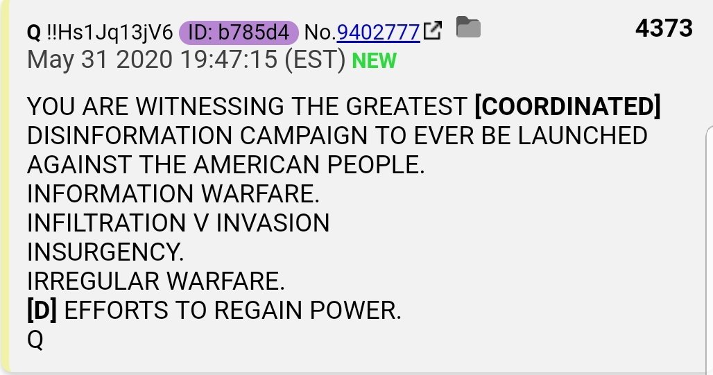 QAnon 8 September 2020 - Coordinated Disinformation Campaign