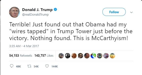 @realDonaldTrump #Tweet