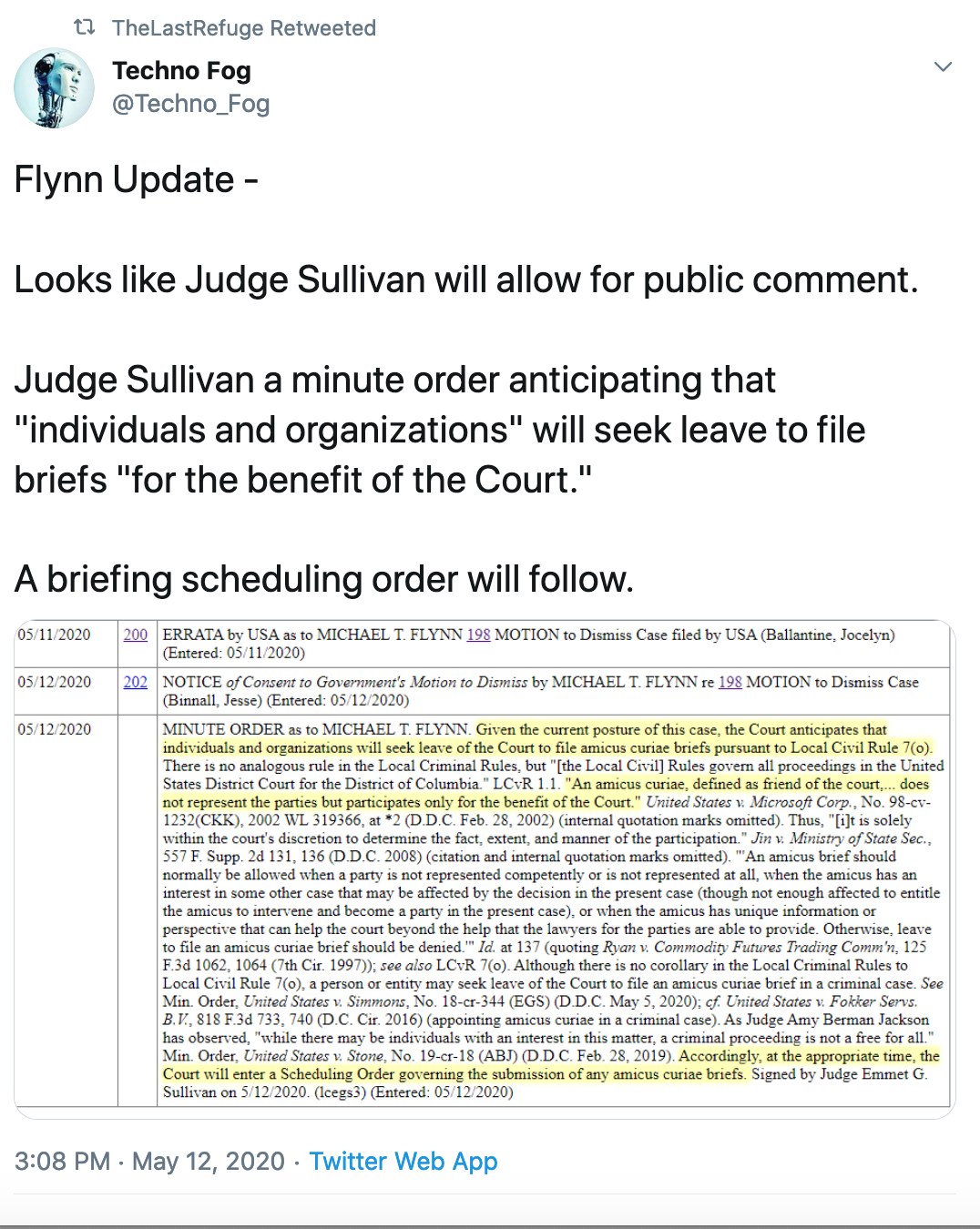 QAnon 12 May 2020 - Flynn Update